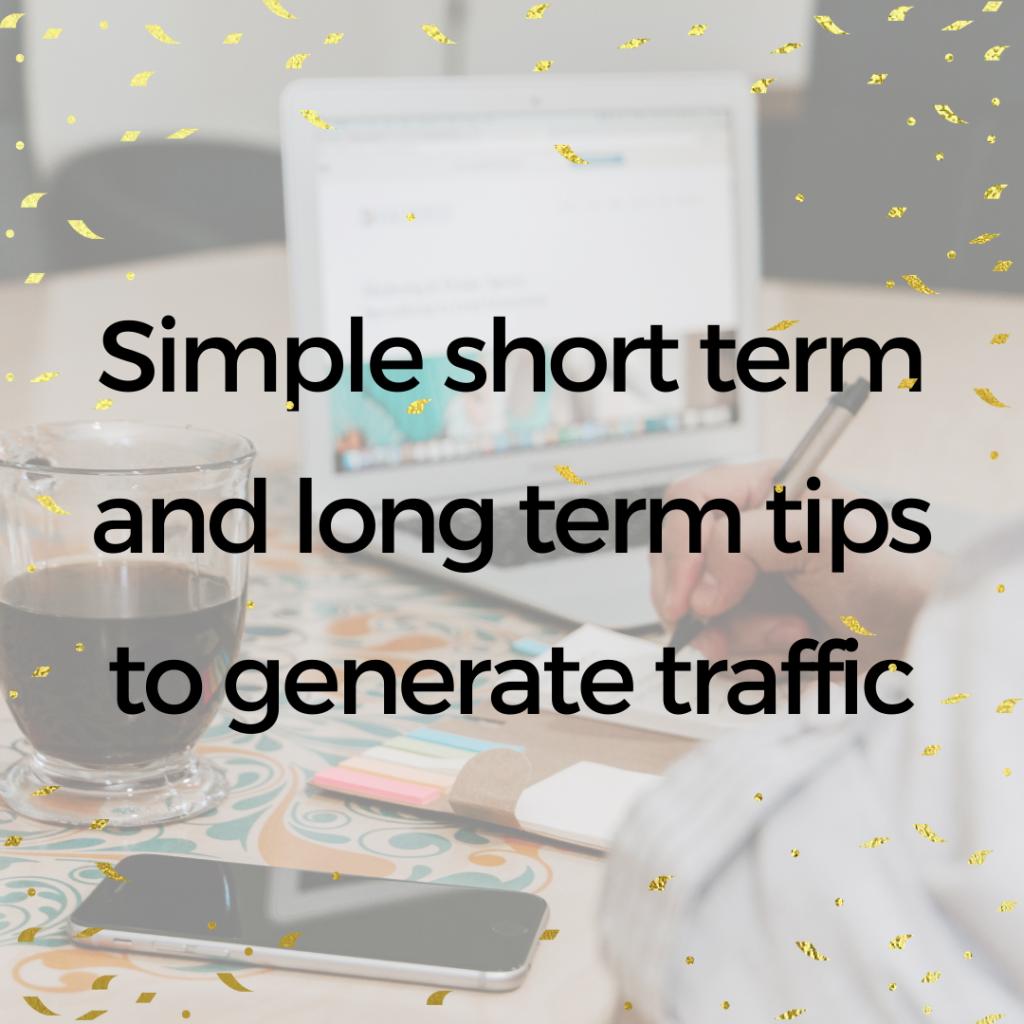 Tips drive traffic new website
